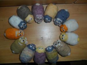 Ovejas hechas a mano con lana 100% natural del Valle del Nansa, Cantabria