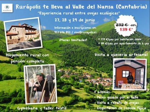 RURÁPOLIS organiza un fin de semana en nuestro valle a precio increíble